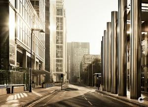 High tech city environment
